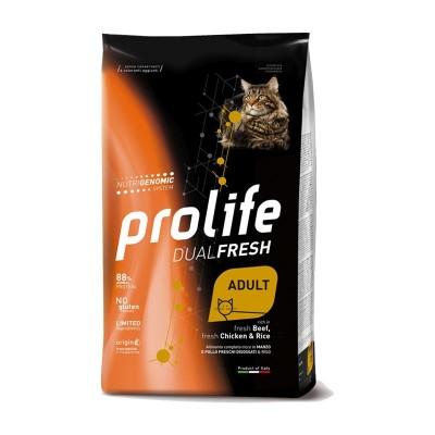 Prolife Cat Dual Fresh Adult Manzo, Pollo e Riso