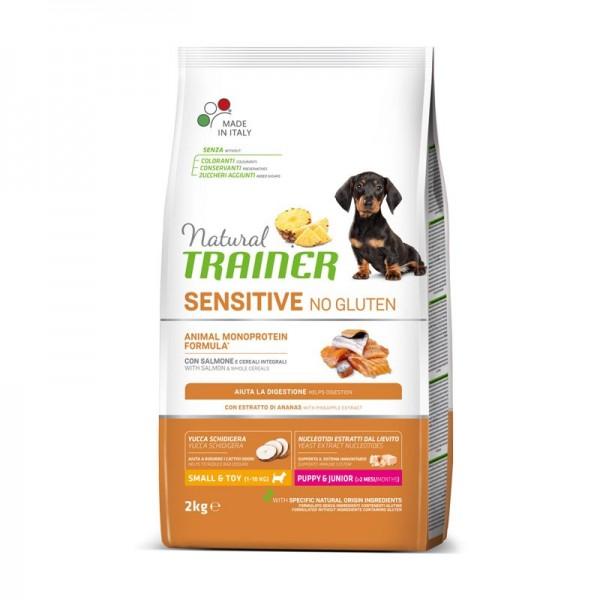 Trainer Natural Sensitive No Gluten Puppy & Junior Mini con Salmone