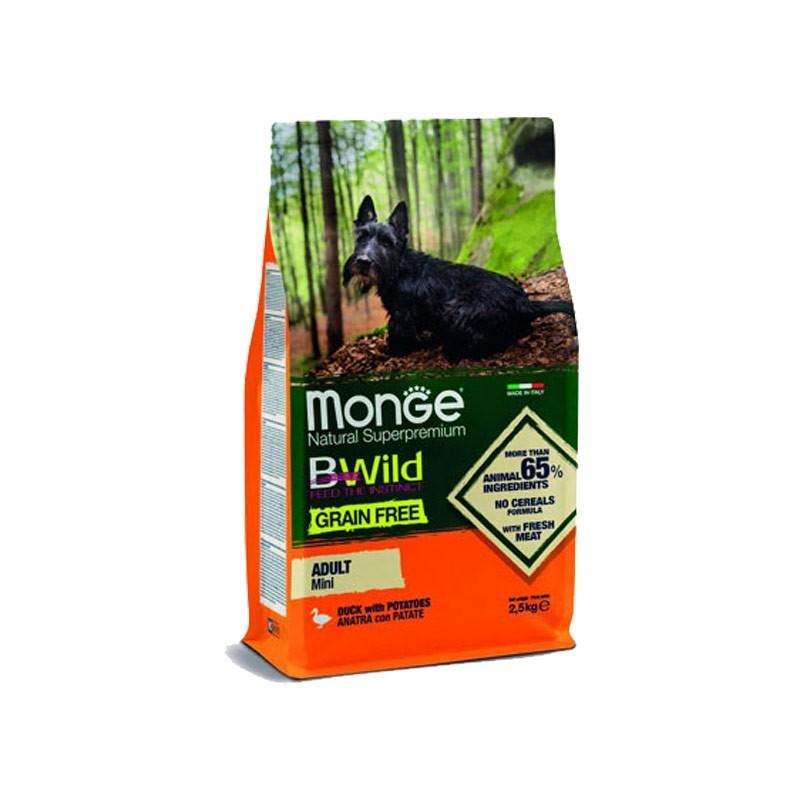 Monge BWild Grain Free Anatra e Patate Adult Mini per Cani