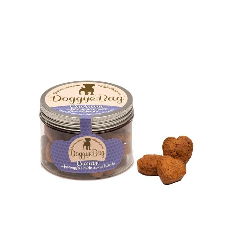 Doggye Bag Cuoricini con Formaggio e Miele al gusto Lavanda