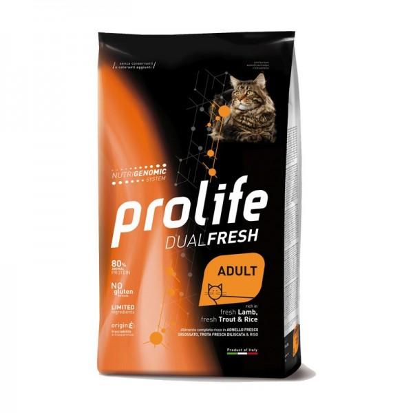 Prolife Cat Dual Fresh Adult Agnello, Trota e Riso