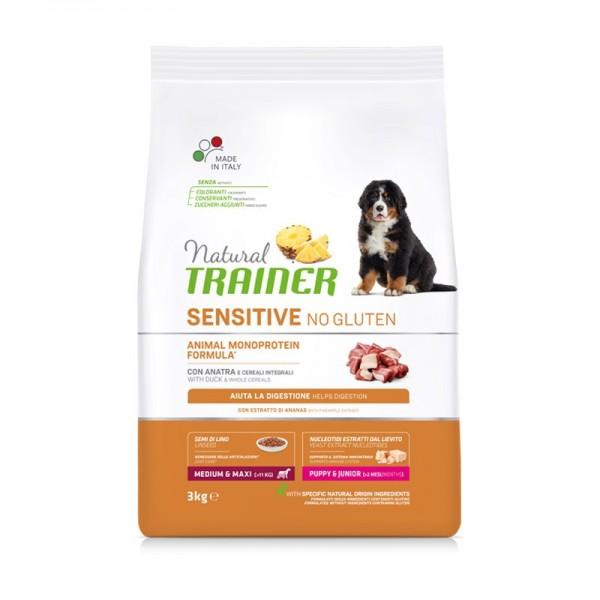 Trainer Natural Sensitive No Gluten Puppy & Junior Medium - Maxi con Anatra