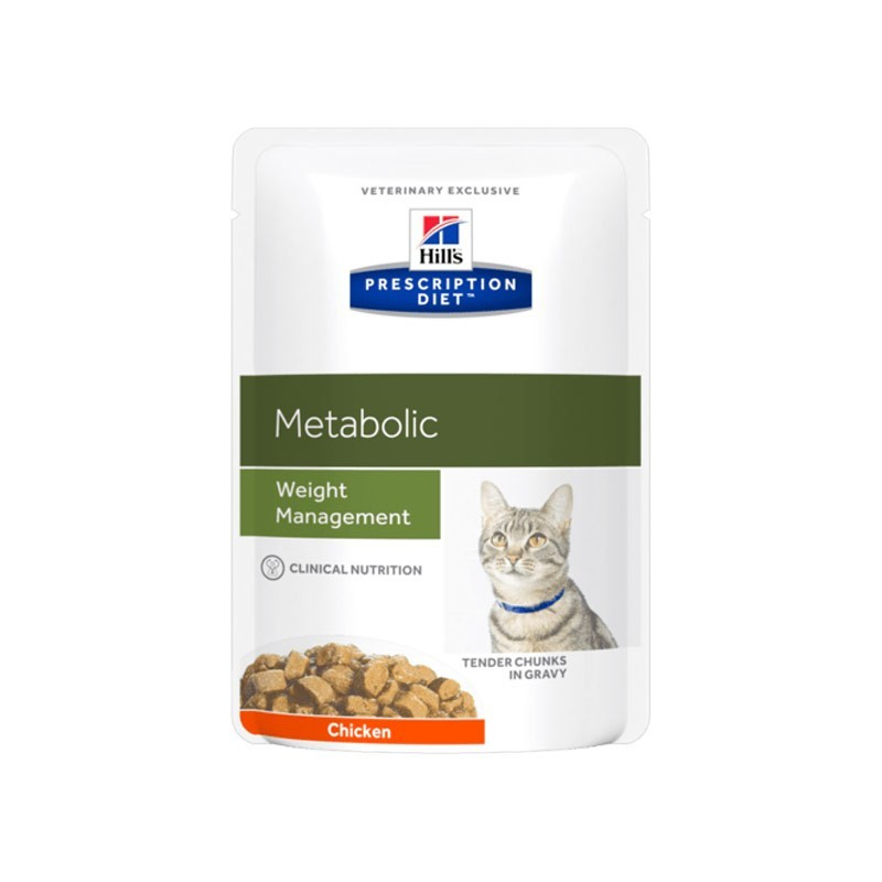 Hill's Prescription Diet Feline Metabolic con Pollo in Busta