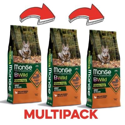 Monge Grain Free Anatra e Patate per Cani