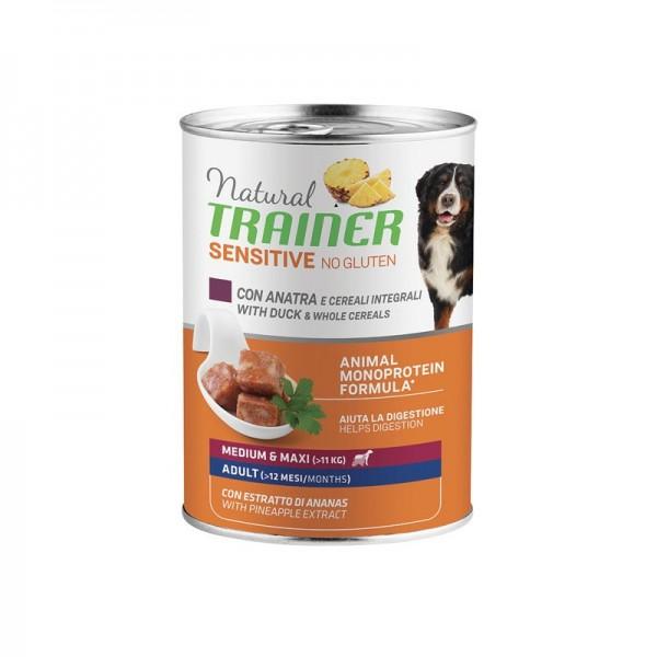 Natural Trainer Adult Sensitive No Gluten Medium - Maxi con Anatra