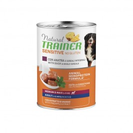 Natural Trainer Adult Sensitive No Gluten Medium - Maxi con Anatra