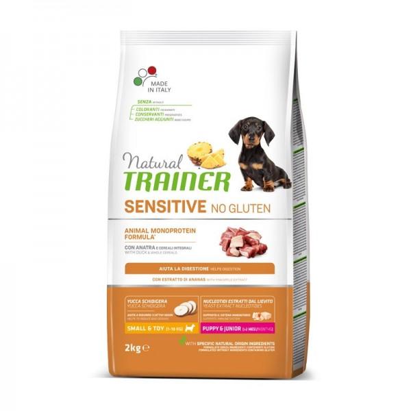Trainer Natural Sensitive No Gluten Puppy & Junior Small & Toy con Anatra