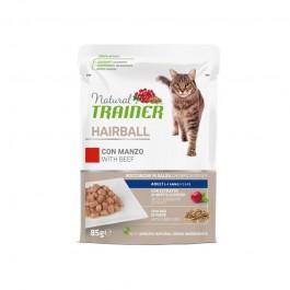 Natural Trainer Hairball Manzo per Gatti in Busta