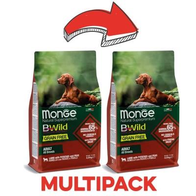 Monge Dog BWild Grain Free Adult Agnello, Patate e Piselli