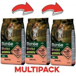 Monge Cat BWild Grain Free Adult Salmone e Piselli