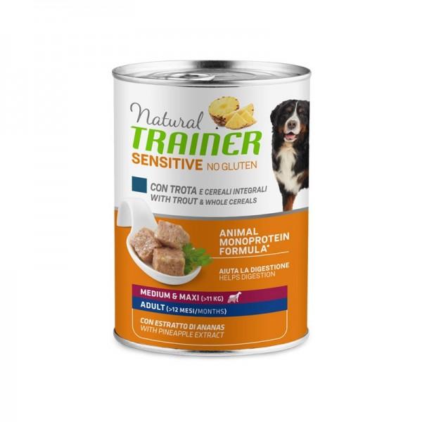 Natural Trainer Adult Sensitive No Gluten Medium - Maxi con Trota