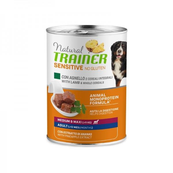 Natural Trainer Adult Sensitive No Gluten Medium - Maxi con Agnello