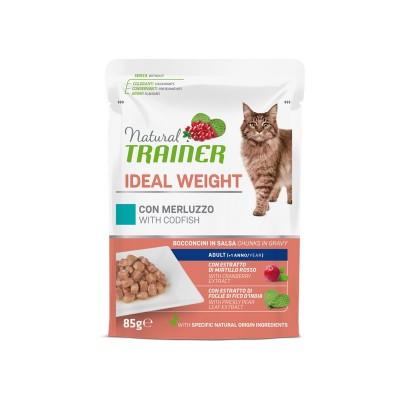 Natural Trainer Ideal Weight Merluzzo per Gatti in Busta