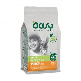 Oasy One Animal Protein Adult Small/Mini Maiale per Cani