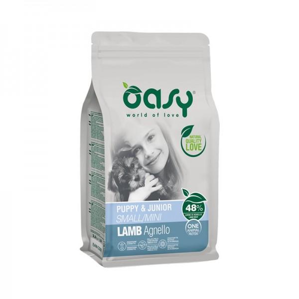 Oasy One Animal Protein Puppy & Junior Small/Mini Agnello