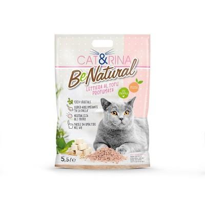 Cat&Rina Be Natural Lettiera al Tofu Profumata alla Pesca