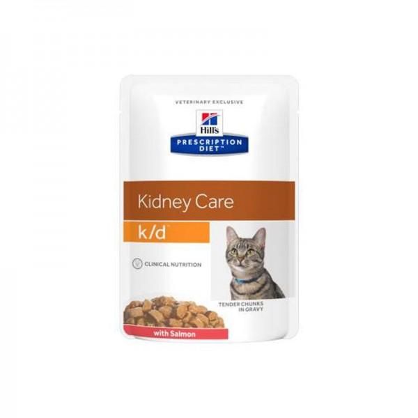 Hill's k/d Prescription Diet Feline Salmone Busta 85g