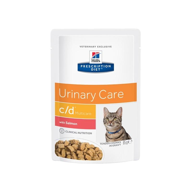 Hill's c/d Feline Urinary Stress Salmone in Busta