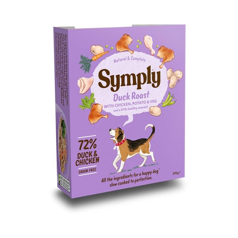 Symply Duck Roast Anatra con Pollo, Patate e Verdure Umido per Cani