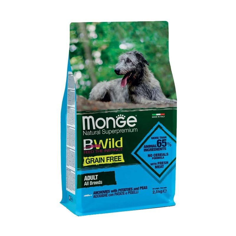 Monge BWild Grain Free Acciughe e Patate Adult per Cani