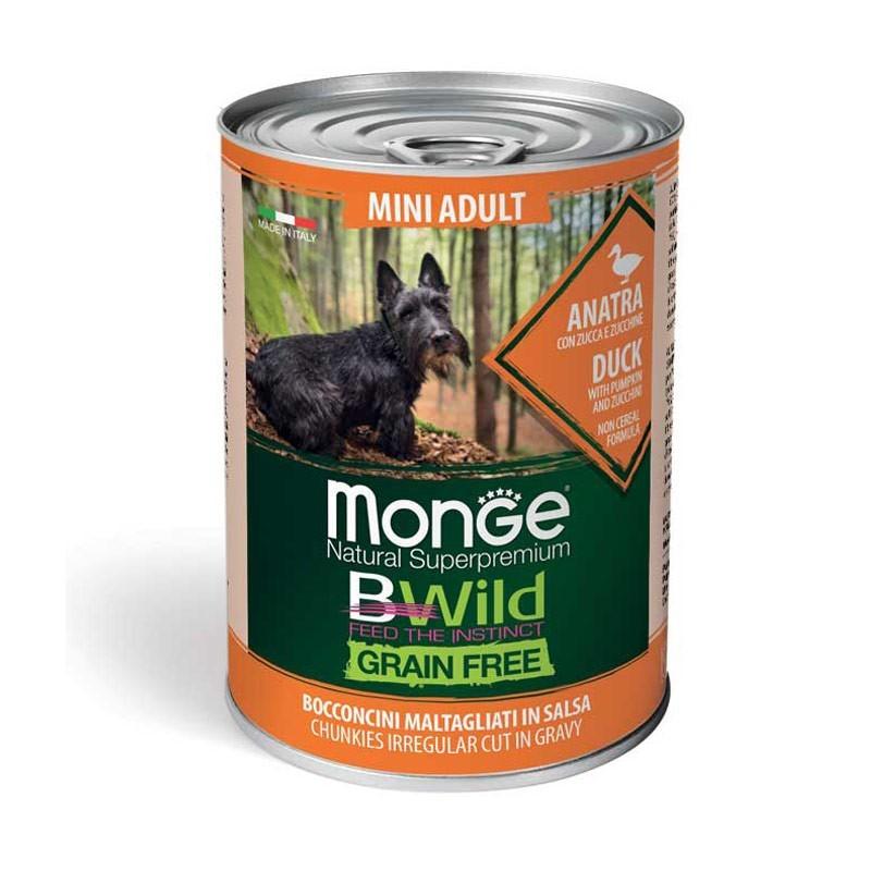 Monge Dog BWild Mini Adult Anatra con Zucca e Zucchine