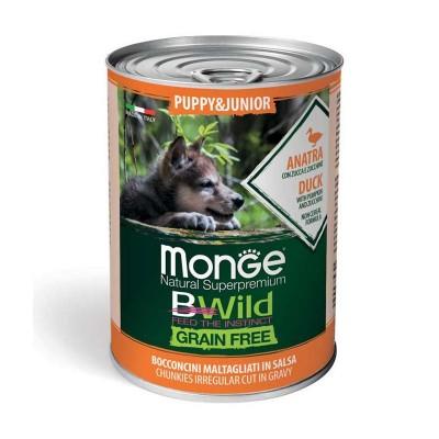 Monge Dog BWild Grain Free Junior Anatra con Zucca e Zucchine
