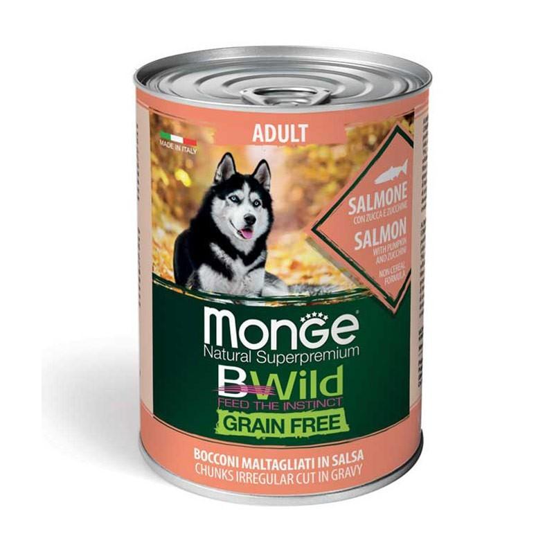 Monge Dog BWild Grain Free Adult Salmone con Zucca e Zucchine
