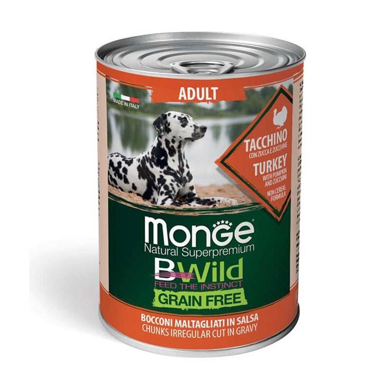 Monge Dog BWild Grain Free Adult Tacchino con Zucca e Zucchine