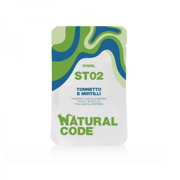Natural Code Sterilised Tonnetto e Mirtilli per Gatti
