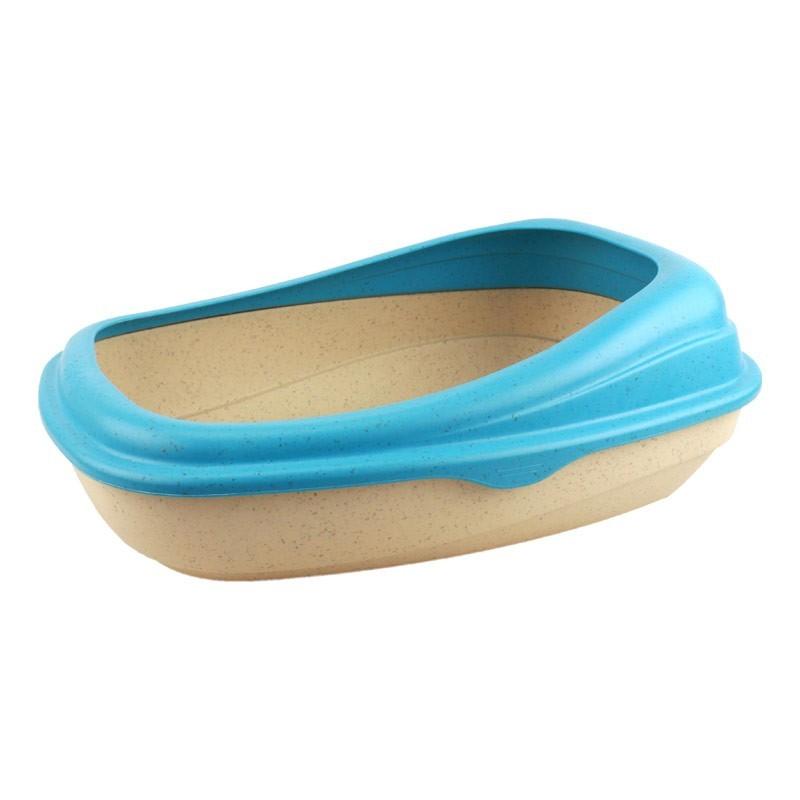 Beco Tray Toilette con Bordo Blu