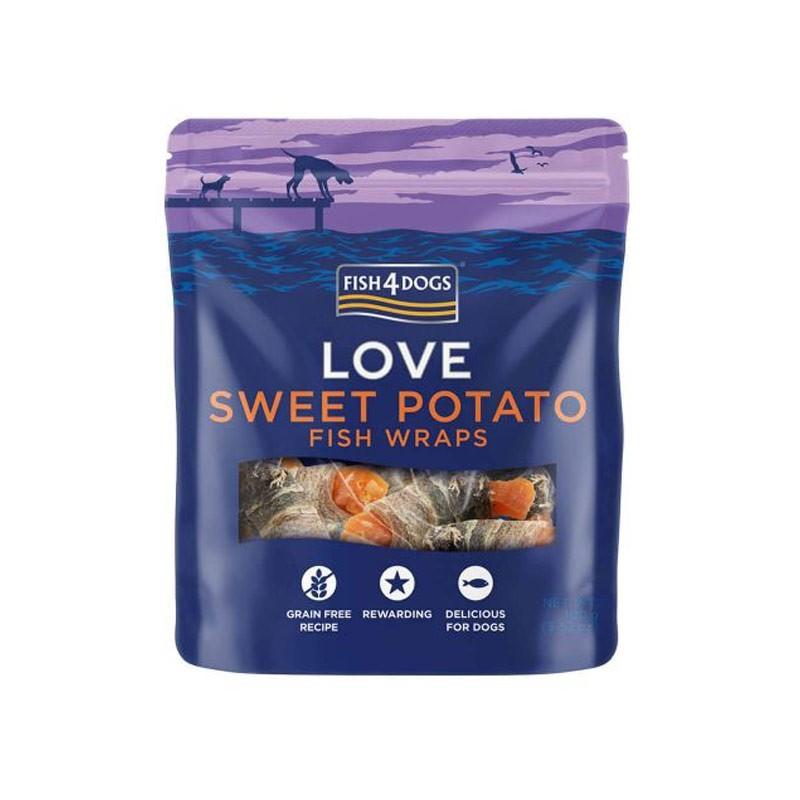 Fish4Dogs Love Sweet Potato Fish Wraps