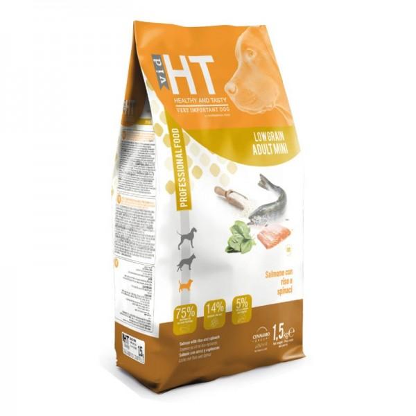 HT VID Healthy & Tasty Dog Low Grain Adult Mini Salmone, Riso e Spinaci