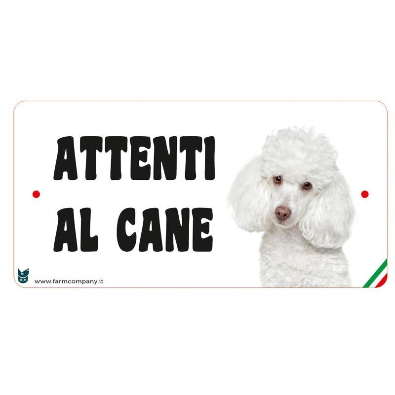 Farm Company Targa Attenti al Cane con Barboncino