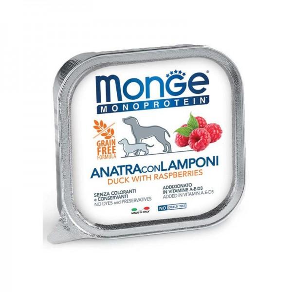 Monge Monoprotein Anatra con Lamponi per Cani 150gr