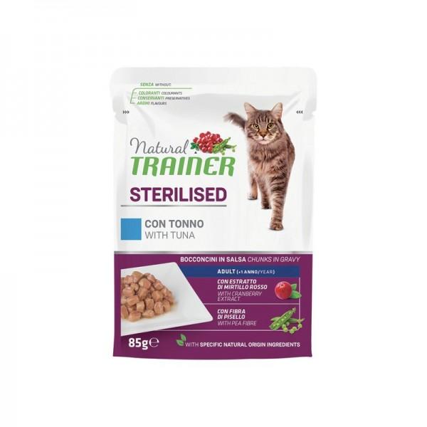 Natural Trainer Sterilized Tonno per Gatti in Busta