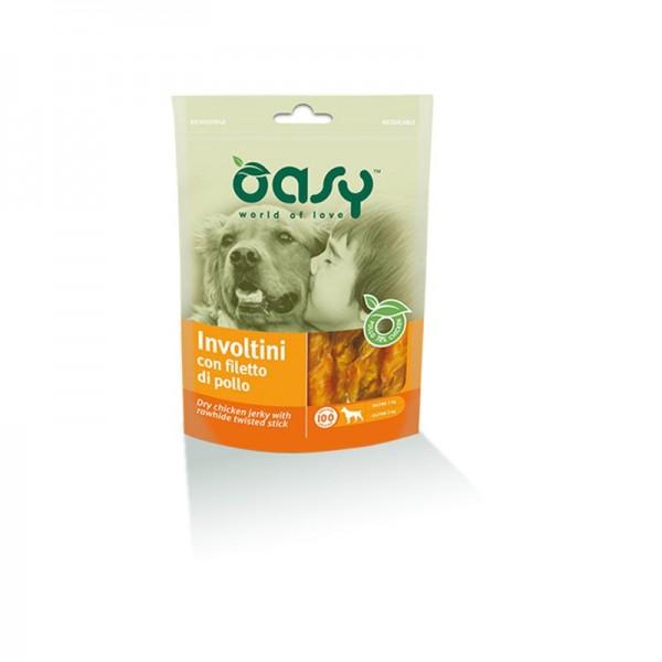 Oasy Involtini con Filetto di Pollo Snack per Cani
