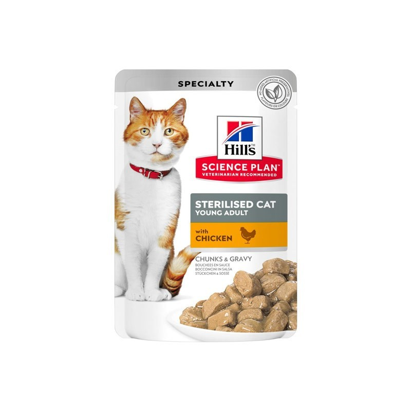 Hill's Science Plan Feline Young Adult Sterilised con Pollo in Busta