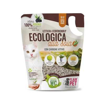 Flair Pet Lettiera Ecologica alla Soia con Carboni Attivi