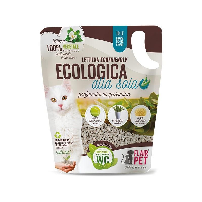 Flair Pet Eco-Friendly Lettiera Ecologica alla Soia Profumata al Gelsomino