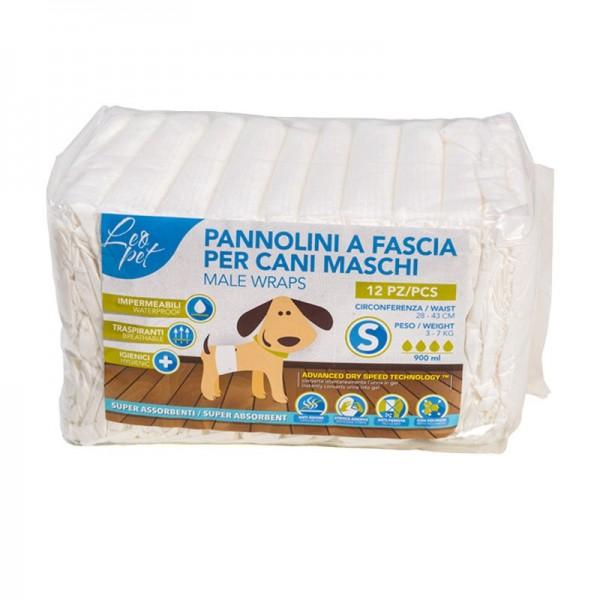 Leopet Pannolini a Fascia per Cani Maschi 12 pz