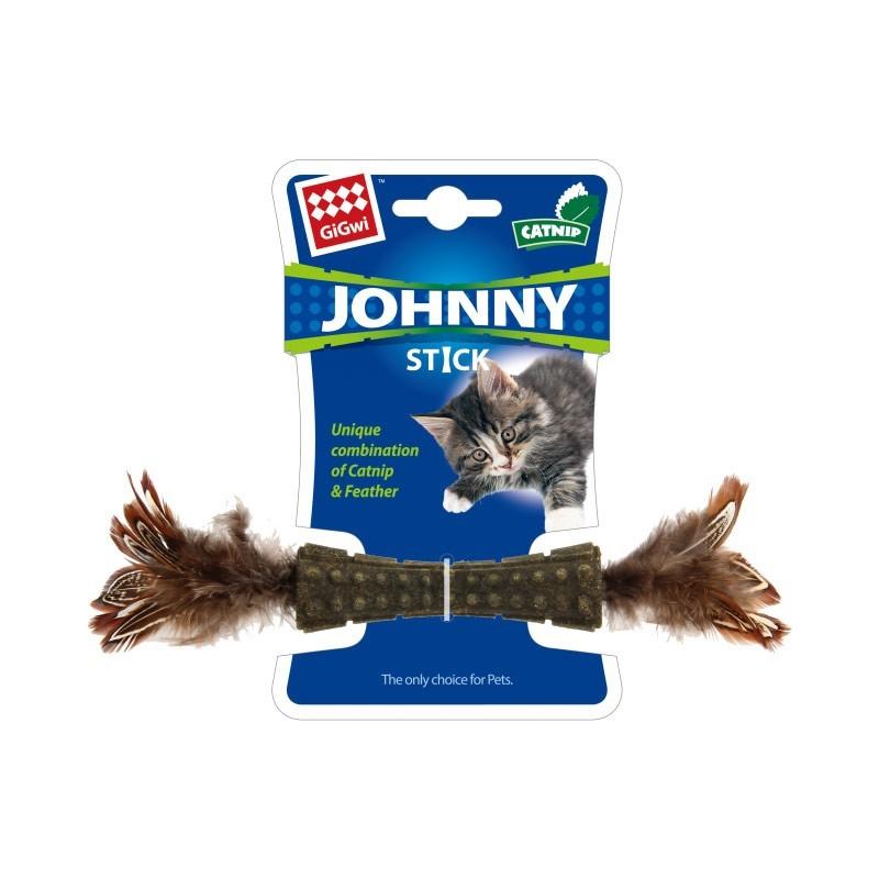Gigwi Johnny Stick Catnip con Doppia Piuma