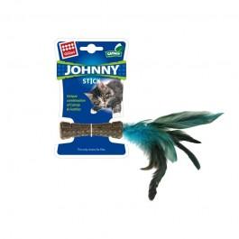 Gigwi Johnny Stick Catnip con Piuma Blu