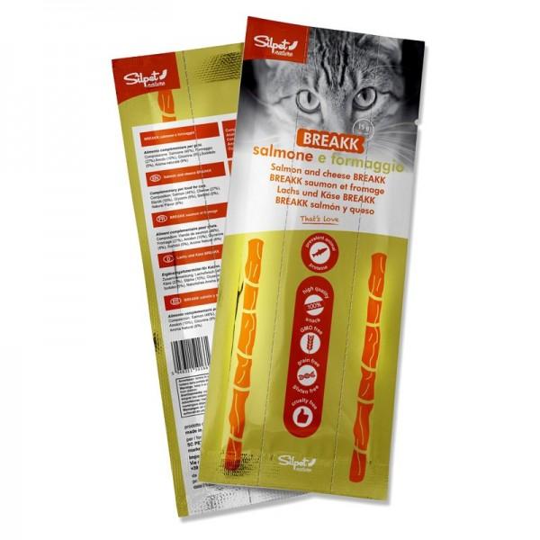 Silpet Snack Monodose Breakk Salmone e Formaggio per Gatti