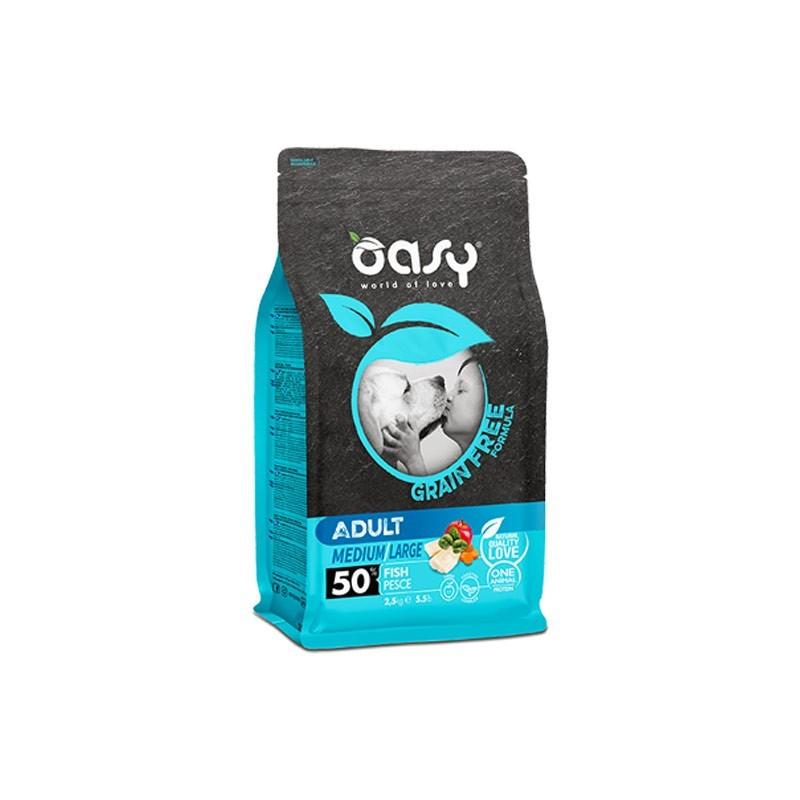 Oasy Dog Grain Free Adult Medium/Large Pesce