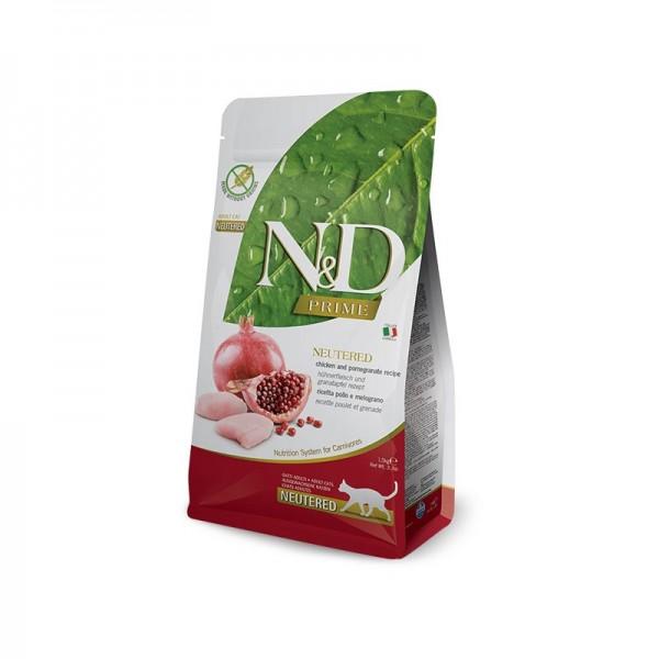 Farmina N&D Prime Grain Free Neutered Pollo e Melograno per Gatti