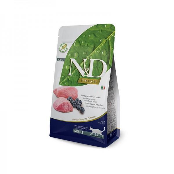 Farmina N&D Prime Grain Free Adult Agnello e Mirtillo per Gatti