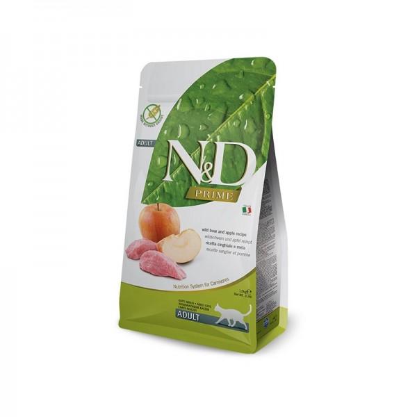 Farmina N&D Prime Grain Free Adult Cinghiale e Mela per Gatti