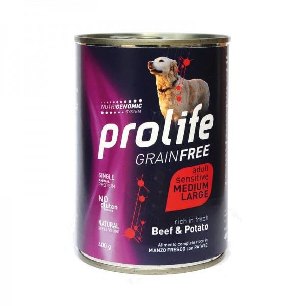 Prolife Dog Grain Free Adult Sensitive Medium/Large Manzo e Patate