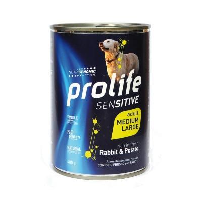 Prolife Dog Grain Free Adult Sensitive Medium/Large Coniglio e Patata