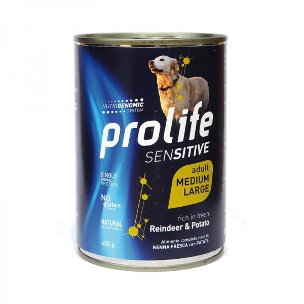 Prolife Dog Sensitive Adult Medium/Large Renna e Patata